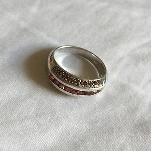 Jewelry - Orange Citrine Sterling Silver Ring